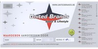 United Brands - Cadeaubon United Brands t.w.v. € 10